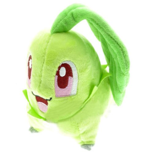 Stuffed Chikorita - Plush Animal Pokemon That's Suitable For Babies and Children - Perfect Birthday Gifts - Toy Doll for Baby, Kids and Toddlers - (Pokemon Stuffed Animals For Sale)