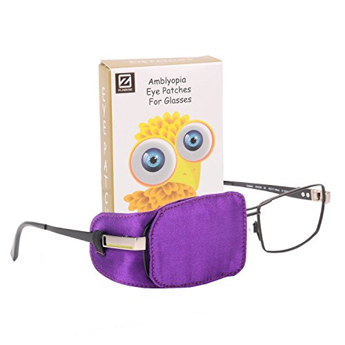 Plinrise Pack of 1 Silk Eye Patches No Light Leak, Smooth, Soft and Comfortable - Boys and Girls - Amblyopia/Lazy Eye Patches For Children, Kids Eye Patch,Strabismus, Child Health Protection Purple