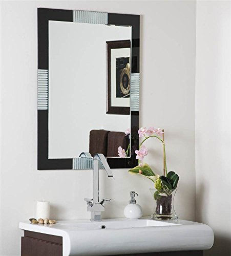 Francisco Large Frameless Wall Mirror by Decor Wonderland