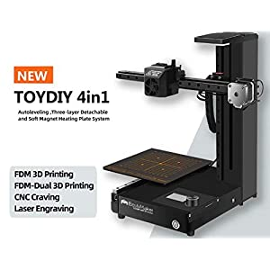 EcubMaker TOYDIY 4-in-1 3D Printer FDM Laser CNC Dual-FDM with Auto Leveling,Heated (180 x 180 x 180mm) Build Plate,PLA 18