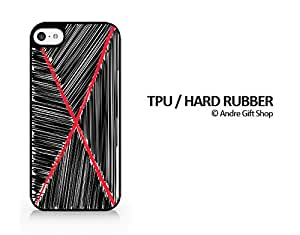 TPU / RUBBER Black Case - X Sign - Cross Out - Doodle Art - iPhone 5C - (C) Andre Gift Shop
