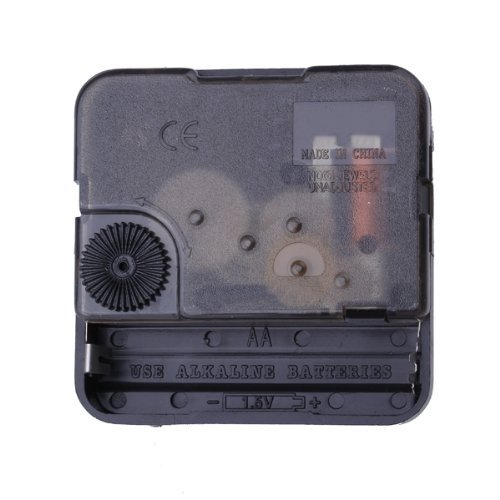 SODIAL R Clock Movement Mechanism with Silver Hour Minute Second Hand DIY Tools Kit