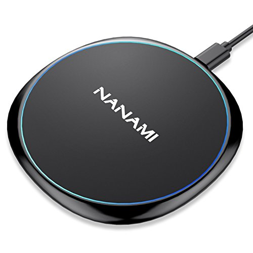 Fast Wireless Charger, NANAMI 7.5W Wireless Charging Base Compatible iPhone X/XS/XS Max/XR/8/ Plus,10W Charger Pad Compatible Samsung S10 S10+ S9 S9+ S8 S8+ Note9/8 & All Qi Devices-Ultra Slim Design