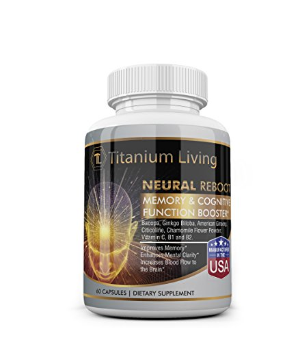 American Ginseng Concentrate - Titanium Neural Reboot with American Ginseng, Citicoline, and L'theanine for Memory Enhancement, Focus, Concentration, and Clarity (60 Capsules)