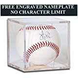 Baseball Personalized Engraved Acrylic Display Case Square - Cube