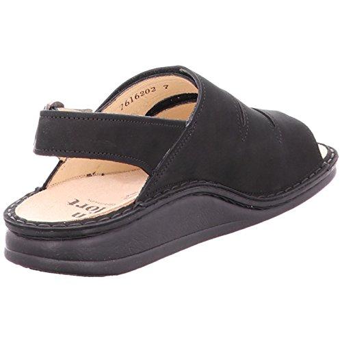 Finn Comfort Womens 2509 Sylt Nubuck Sandals Nero (Schwarz (Schwarz))