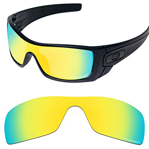 Tintart Performance Replacement Lenses for Oakley Batwolf Sunglass Polarized Etched-Golden Yellow by Tintart