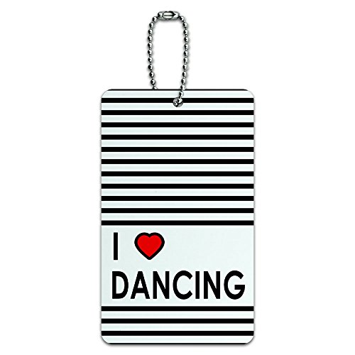 I Love Heart Dancing ID Tag Luggage Card Suitcase Carry-On