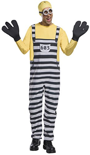 Rubie's Costume Co. Men's Despicable Me 3 Jail Minion Tom Costume, As Shown, (Halloween Costumes For 3 Adults)