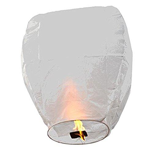 FUN Entertainments 10-Pack White ECO Sky Lanterns Chinese Lanterns 100% Biodegradable, Environmentally Friendly Lanterns