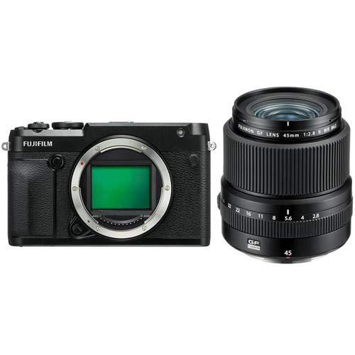 Fujifilm GFX 50R Medium Format Mirrorless Camera (Body Only) FUJINON GF 45mm F|2.8 R WR Lens