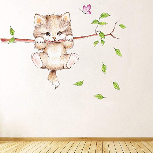 Animal Wall Stickers, Cute Cat Wall Self-Adhesive Decorative Decals, Used for Home Nursery, Classroom, Office Decoration 3