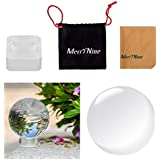 """Photograph Crystal ball with Stand and Pouch, K9 Crystal Suncatchers Ball with Microfiber Pouch, Decorative and Photography Accessory (80mm/3.15"""", Clear)"""