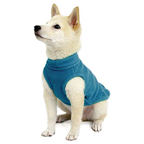 Gooby - Stretch Fleece Vest, Pullover Fleece Vest Jacket Sweater for Dogs, Steel Blue, Medium