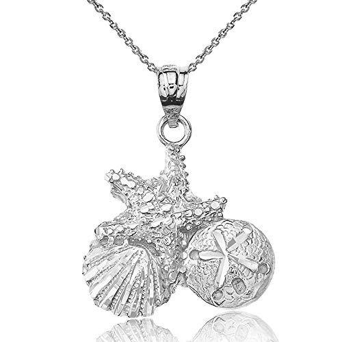 925 Sterling Silver Starfish Cockle Sea Shell and