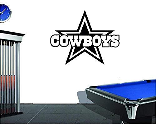 Wall Vinyl Decal The Hub Dallas Cowboys Logo Football Emblems Sport Interior Vinyl Decor Sticker Home Art Print TT9648 ()
