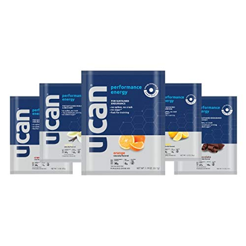 UCAN Run Performance Energy Multi Pack (3 Performance Energy Powder Packets, 2 Performance Energy w/Protein Packets – 5 Count) – Gluten-Free, No Added Sugar, Pre- and Post-Workout