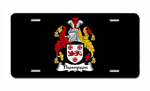 (Carpe Diem Designs Thompson Coat of Arms/Thompson Family Crest (Ireland) License/Vanity Plate - Made in The U.S.A.)