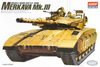 Academy 1391 1:35 Merkava Mk3 Static Plastic Kit Jp Usa Side Skirts