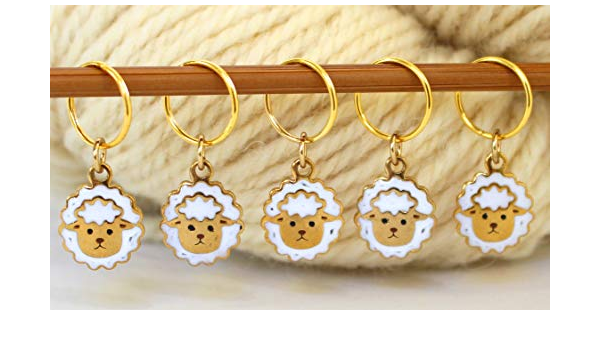 Stitch Marker Milk and Cookie Food Charm Gift for Knitter Progress Keeper Knitting Notion Mini Food Cookie Dunk Charm Food Jewelry