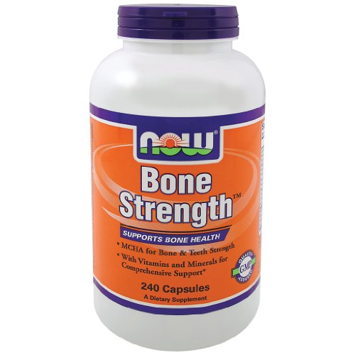 Now Foods Bone Strength- 240 Capsules 3 Pack