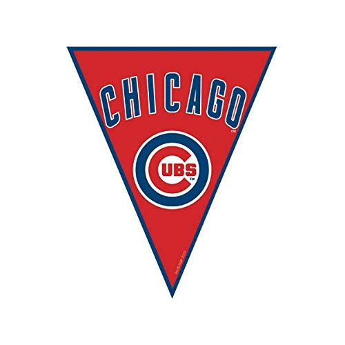 Chicago Cubs Major League Baseball Collection Pennant Banner, Party Decoration