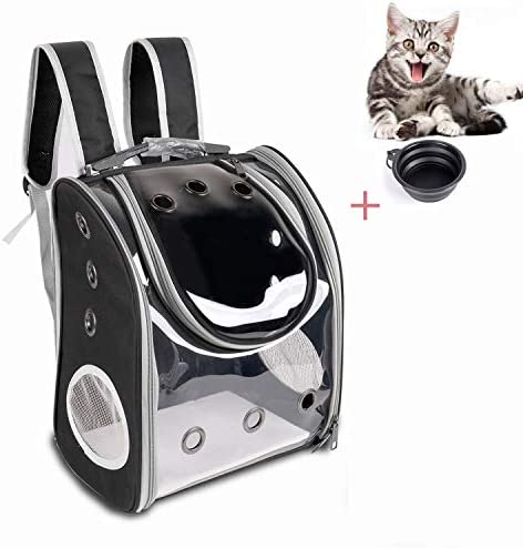 YINGJEE Pet Carrier Backpack Breathable for Small Medium Dogs and Cats, Deluxe Pet Carrier Bag with Mesh Ventilation, Safety Features and Cushion Back Support, for Traveling, Hiking, Camping, Walking