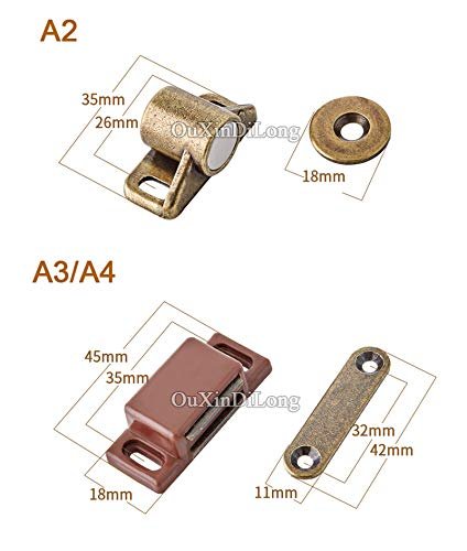 HOT 10PCS Kitchen Cabinet Catches Door Latch Clips Cupboard Cabinet Door Catches Stops Closet Wardrobe Furniture Hardware - (Color: A2) by Kasuki (Image #7)