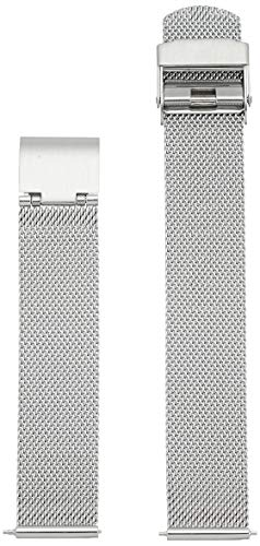 Skagen Women 16mm Stainless Steel Mesh Dress Watch Band, Color: Silver (Model: - Mesh Womens Black Skagen Watch