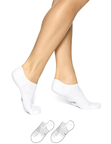 HUE Women's Air Sleek Liner with Cushion 3 Pack, White, One Size (4-10)