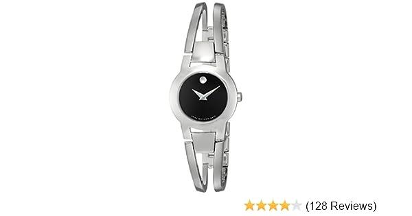 dfa5729a8bd71 Amazon.com  Movado Women s 604759 Amorosa Stainless Steel Bangle ...
