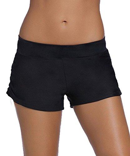 traderplus Women's Stretch Swim Shorts Plus Size Tankini Bottoms Sport Board Shorts