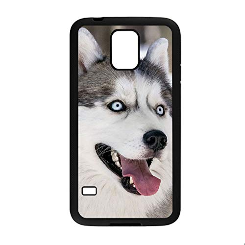 Babu Building Fashionable Design Siberian Husky Phone Case Rigid Plastic Use On S5 Samsung for Boy (Gs5 Case Custom)