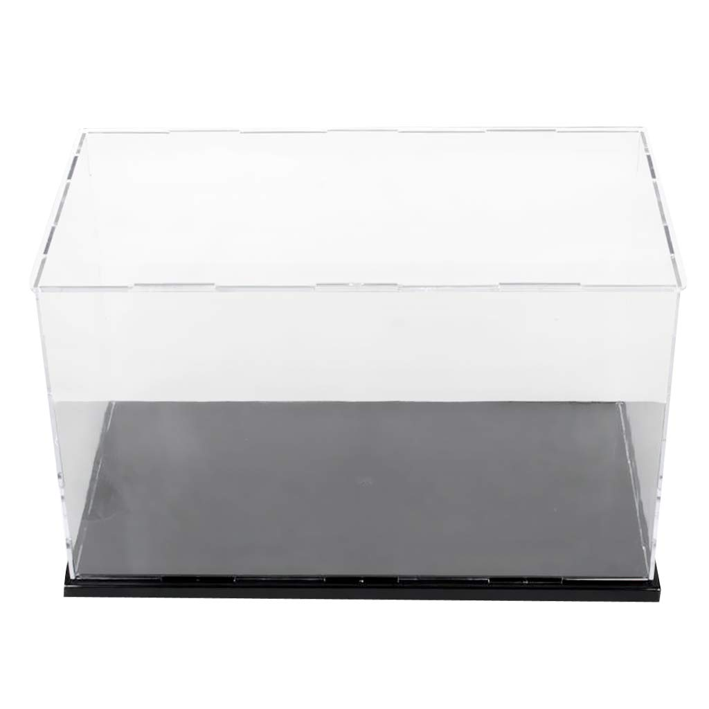 SM SunniMix Acrylic Display Case Dust-Proof Show Box for Plane Car Boat Model 10*6*6inch