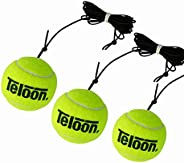 3 PCS Teloon Ball with String for the Tennis Trainer Iron Base