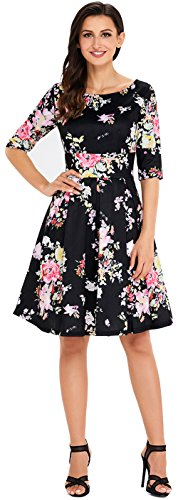 asos 40s tea dress with high neck - 2