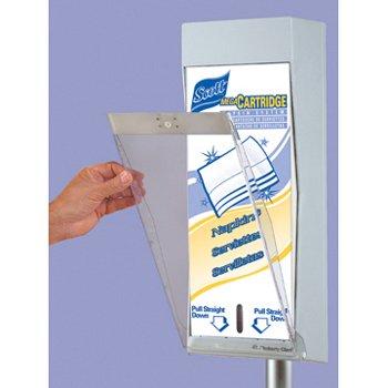 Scott Mega Cartridge Clear Protective Door Kimberly Clark 09908 8X19X1.375 Perfect for the Scott Mega Cartridge Napkin Dispenser System (Scott Mega Cartridge)