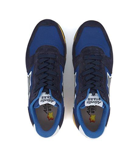 Atlantic Stars Sneaker Antares in Pelle e Tessuto Blu Blu