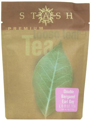Stash Tea Double Bergamot Earl Grey Loose Leaf Tea, 1.75 Ounce Pouch - Victorian Earl Grey Tea