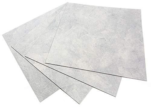 ROSEROSA Peel and Stick PVC Planks and Square Tiles Marble Carpet Stone Concrete Pattern Durable Vinyl Flooring Tiles (ECK-202 : Square 4 Tiles)