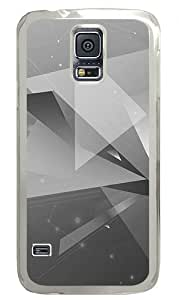 Creative Abstract Geometric Bw Custom Samsung Galaxy S5 Case Back Cover, Snap-on Shell Case Polycarbonate PC Plastic Hard Case Transparent