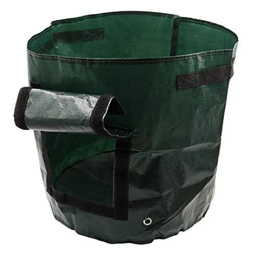 DIY Potato Grow Planter PE Cloth Planting Container Bag Thicken Garden Pot,Yellow]()
