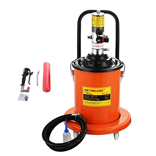 BestEquip Portable 20L Grease Pump Set Electric 5 Gallon Air Operated Grease Pump with 20FT High Pressure Hydraulic Hose (5 -