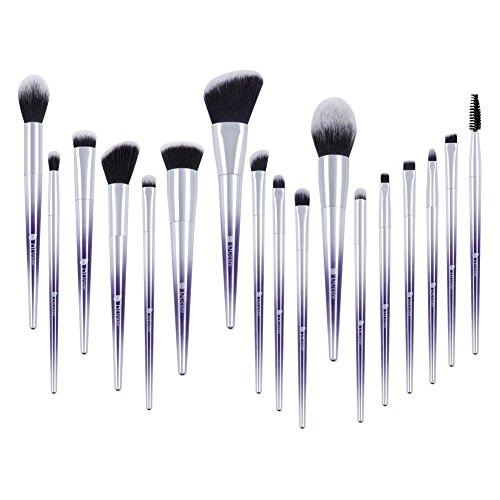 DUcare Makeup Brush Set 17Pcs Ombr Color Professional EyeShadow Foundation Powder Blending Brushes