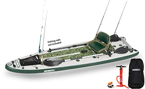 Sea Eagle FishSUP 126 Inflatable FishSUP - Swivel Seat Fishing Rig Package