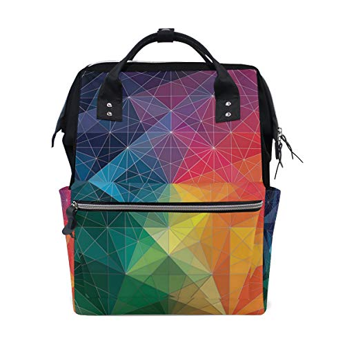 Diaper Bags Hello Geometric Color Fashion Mummy Backpack Multi Functions Large Capacity Nappy Bag Nursing Bag for Baby Care for Traveling