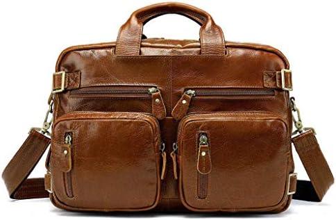 14 インチのラップトップバッグ, オーガナイザー付きレザートラベルブリーフケース, ハイブリッドショルダーバッグ, 男性向けビジネスメッセンジャーブリーフケース