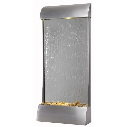 Kenroy Home 50053STST Waterville Floor/Wall Fountain, Stainless Steel (Kenroy Water Wall Floor)