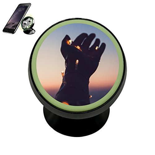 Pop DNS DIY Hope hand Magnetic Phone Mount Car Dashboard Holder Stand 360 Degree Rotation Gift