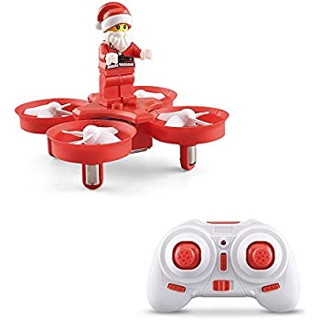 JJRC H67 Flying Santa Claus 2.4G 4CH 6Axis 716 Headless Mode Toy Brick RC Quadcopter RTF - Red